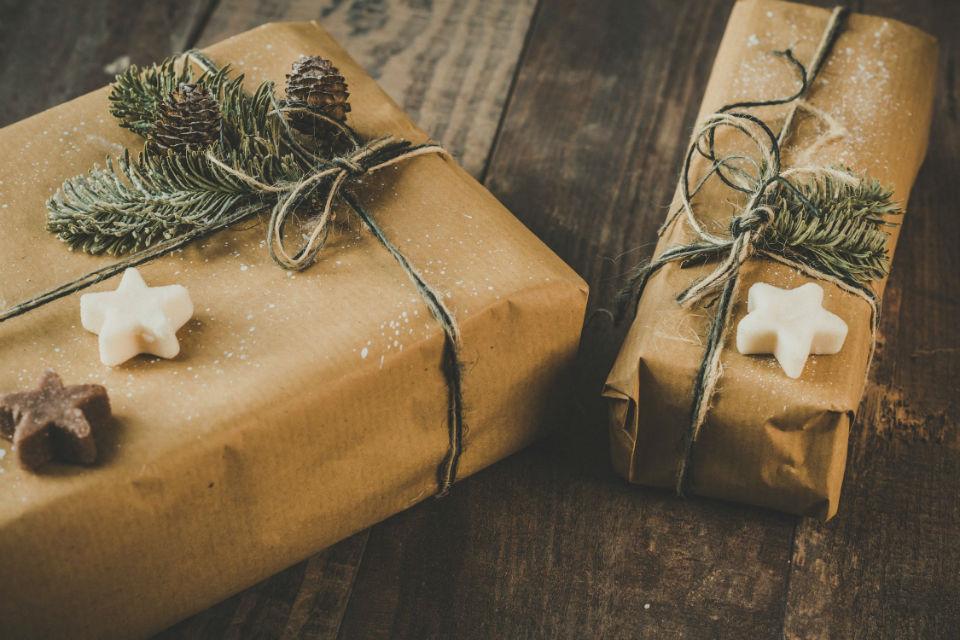 papier cadeau naturel